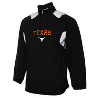 Texas Longhorns Scorch Quarter Zip Pullover Jacket - Black