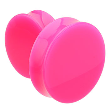 Supersize Neon Colored Acrylic Double Flared Ear Gauge Plug