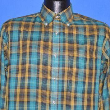 80s Knightsbridge Plaid Kmart Tag Men's shirt Small