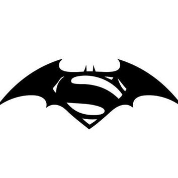 Superman vs Batman Logo Decal Sticker Vinyl DC Universe Comics For Car Windows Laptop Room