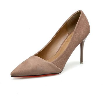 Stiletto Heel Pointed Toe Suede High Heels Prom Shoes