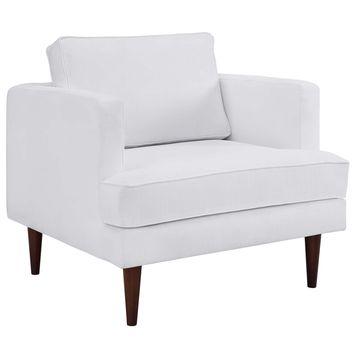 Agile Upholstered Fabric Armchair White EEI-3055-WHI