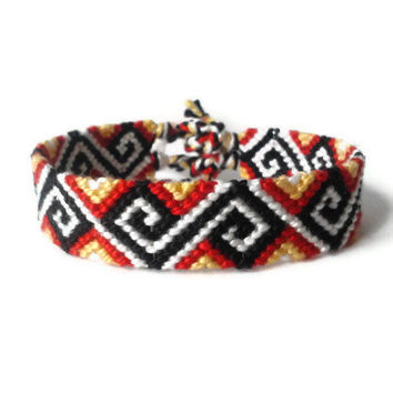 "friendship bracelet friendship cuff unisex adult jewelry ""Greek pattern"" 14,5 cm (5,7 inches)"