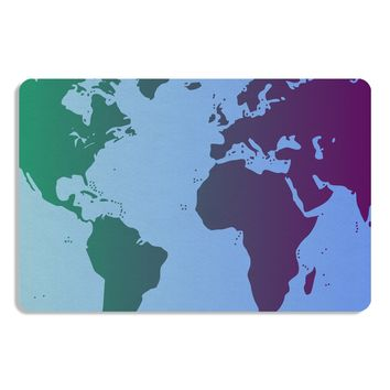 Cool World Map Design Placemat All Over Print