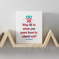 Dr. Seuss Quote Gallery Wrapped Canvas