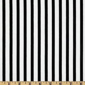 Black and White Stripe Fabric by the Yard | 100% Cotton