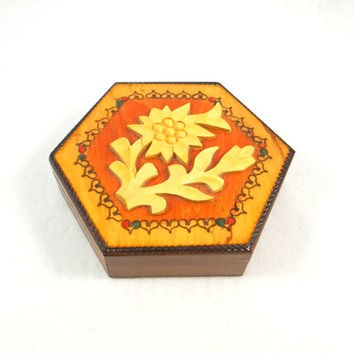 Polish Folk Art Jewelry Box by Krakow Joinery Crafts Carpenters