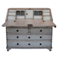 Cupboards and Roses - Period Swedish Writing Desk - 1stdibs