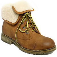 Dirty Laundry Booties, Raeven Faux-Shearling Booties