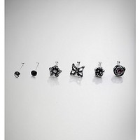 20 G Black Stud Butterfly & Flower Nose Ring 6 Pk - Spencer's