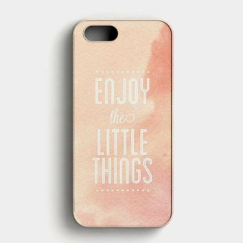 Enjoy The Little Things iPhone SE Case