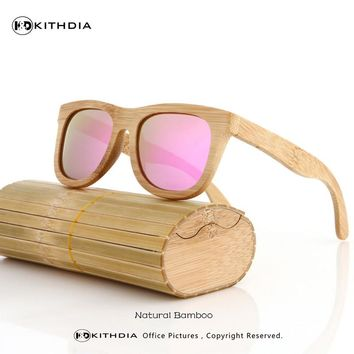 2017 Bamboo Sunglasses Men Wooden Sunglasses polarized Brand Designer Mirror Original Wood Sun Glasses Oculos zonnebril