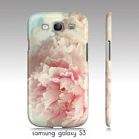 "Samsung galaxy S3, iphone 4,4s, 5 phone case-""delicate"" shabby chic, floral art, pink aqua"