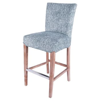 Milton Fabric Bar Stool, Quiver Indigo Blue