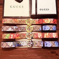 Gucci Flower Belt Girls Leather Belt