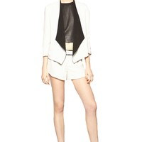 alice + olivia | OLIVER DRAPED SHAWL COLLAR BLAZER