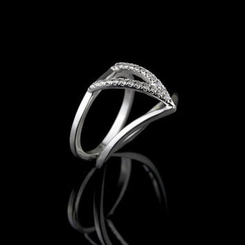 Silver 925 Sterling Ring , Unique engagement ring , Fashion Rings , RS-1053