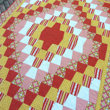 Lap Quilt Delighted Bright Tumbler by TheQuiltedKitchen on Etsy