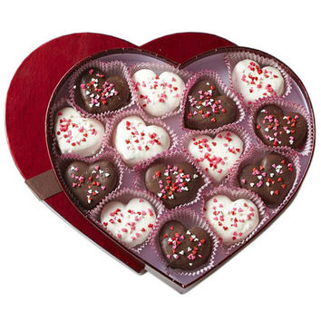 Valentine's Day Chocolate Covered Brownie Bites
