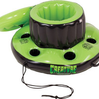 Creature Swim Club Floating Cooler Black/Green