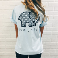 Sky Blue Navy Hamsa Short Sleeve