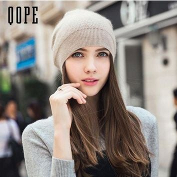 ONETOW 2017 New Cashmere hat Winter Hats For Women High Quality Warm Women'S Brand Casual Knitted Vogue Hat Female Skullies Beanie cap