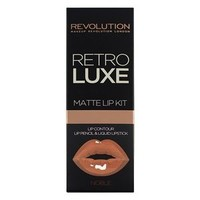 Makeup Revolution Retro Luxe Lip Kits Matte Noble | Superdrug