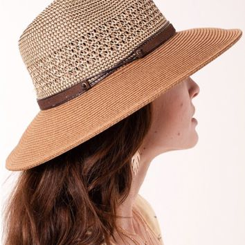 Two Tone Straw Panama Hat