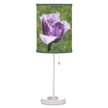 Purple Fringed Tulip Table Lamp