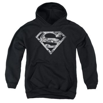 Superman - Urban Camo Shield Youth Pull Over Hoodie