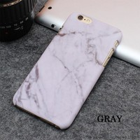 Hot Selling Fashion Marble Phone Cases Frosting Hard PC Case for iPhone 7 6 6S Plus 5 5S SE Ultrathin Stone texture Back Cover-171201