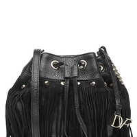 Diane von Furstenberg - Fringed Suede Shoulder Bag