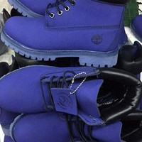 Timberland Icon 6-inch Premium With Camo Outsole Royal Waterproof Boots