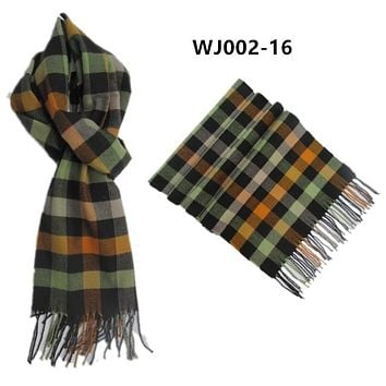 WJ002-16 2016 New men's scarf Imitation cashmere knitting plaid color warm winter women Scarves