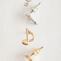 Quirky On That Note Earring Set by ModCloth