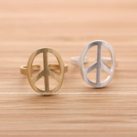 girlsluv.it - PEACE ring, 2 colors