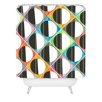 Sharon Turner Eclipse Diamonds Shower Curtain