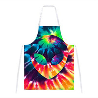Alien Tie Dye All Over Apron