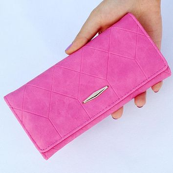 Fashion Women Wallets Brand Design Lady Purses Girls Coin Purse Plaid Money Bags Clutch Woman Wallet Cards ID Holder Burses Bag