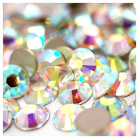 1000 3mm Crystal AB High Quality Flatback Resin Rhinestones 14 Facets SS12 DIY Deco Bling Kit Nail Art Kawaii Decoden