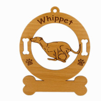 4229 Whippet Running Ornament Personalized with Your Dog's Name