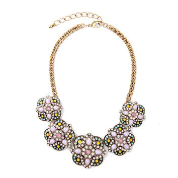 Mixed Floral Collar Necklace