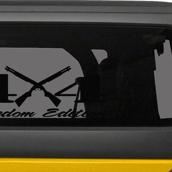 4X4 Freedom Edition Shotgun 2nd Amendment Right to Bear Arms Support Vinyl Decal -0240