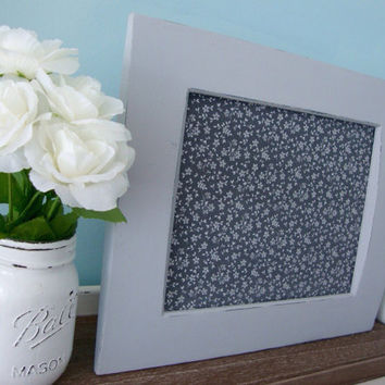 Magnetic Board & Four Magnets Of Your Choice, Framed Magnet Board, Upcycled Shabby Chic Frame, Floral Magnet Board, Gray Distressed Frame