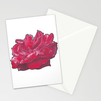 Red Rose 2 Stationery Cards by drawingsbylam