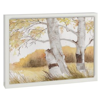 AUTUMN BIRCH TREES Premium Framed Gallery Wrap By Jayne Conte