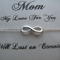 Mothers Day Necklace, Infinity Necklace, Mothers Day Gift, Infinity Charm Necklace