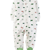 Dinosaur Zip-Up Terry Sleep & Play