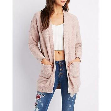 Boucle Open-Front Cardigan | Charlotte Russe