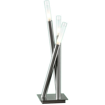 Icicle Table Lamp, Brushed Nickel